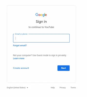 google sign in picture