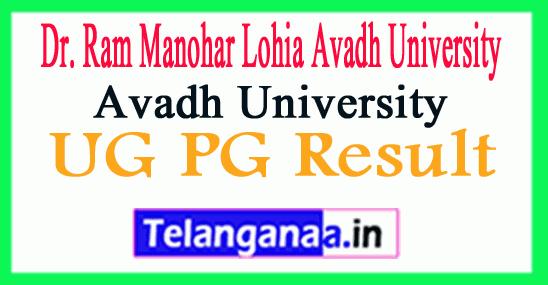 RMLAU Result 2019 Avadh University Result