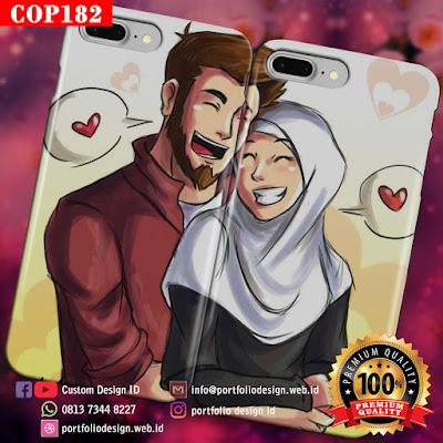 Gambar kartun vektor pernikahan islami menikah muslimah COP182