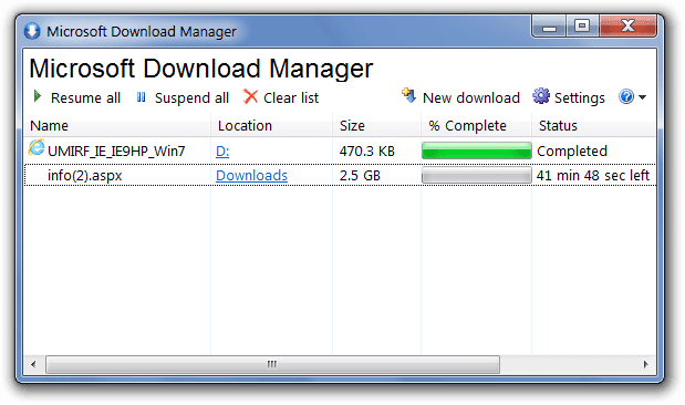 Download Microsoft Download Manager (MDM)