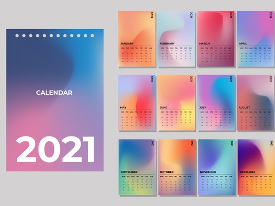 calendario degradado 2021