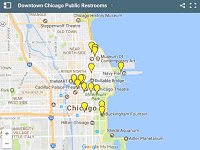 Downtown Chicago Public Restrooms map