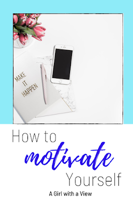 phone and notebook on screen. including text on how to motivate yourself