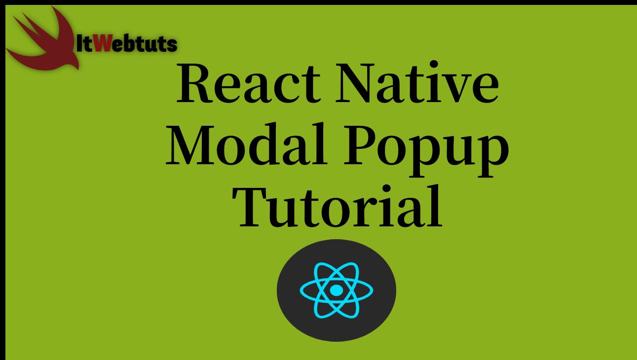 React Native Modal Popup Tutorial