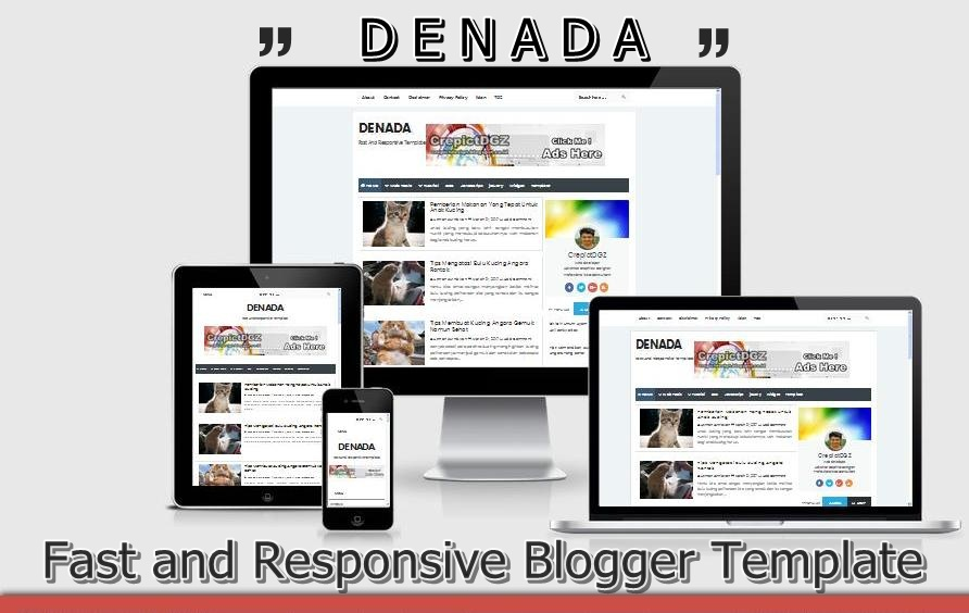 Denada Fast and Responsive Blogger Template