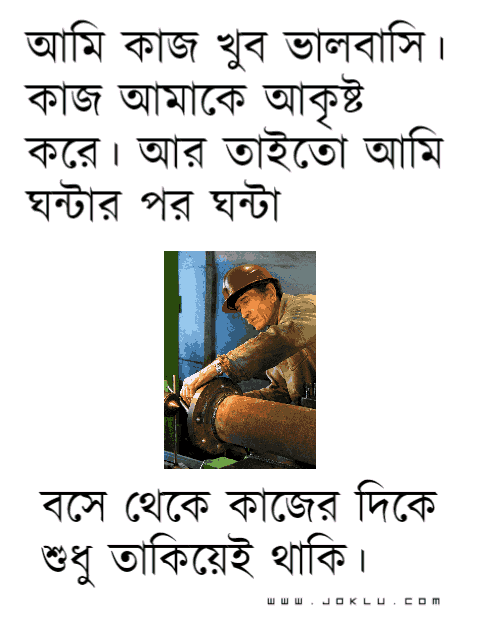 I love work Bengali funny picture