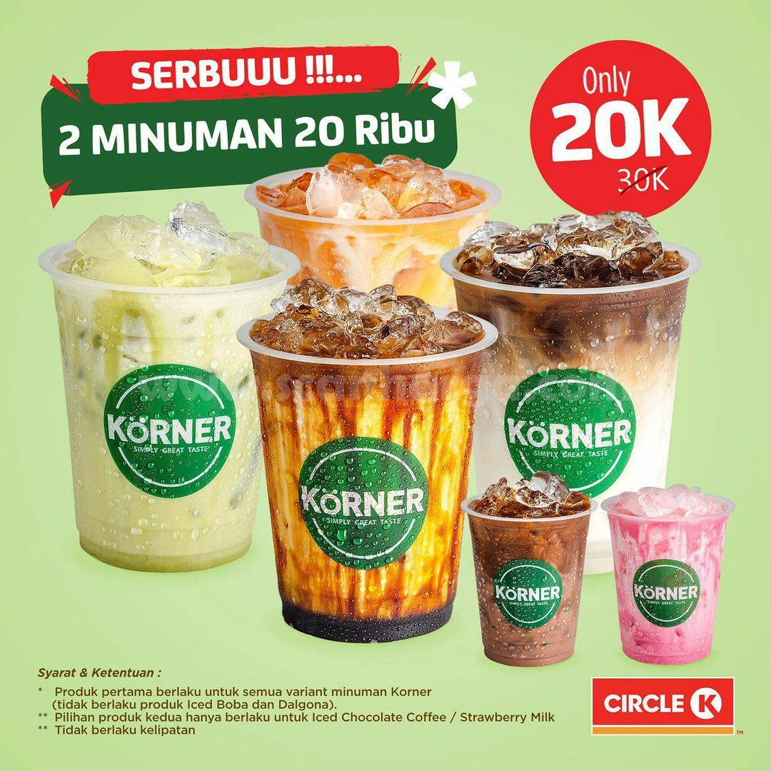Circle K Promo Serbuuu: Dua minuman harga cuma Rp 20.000