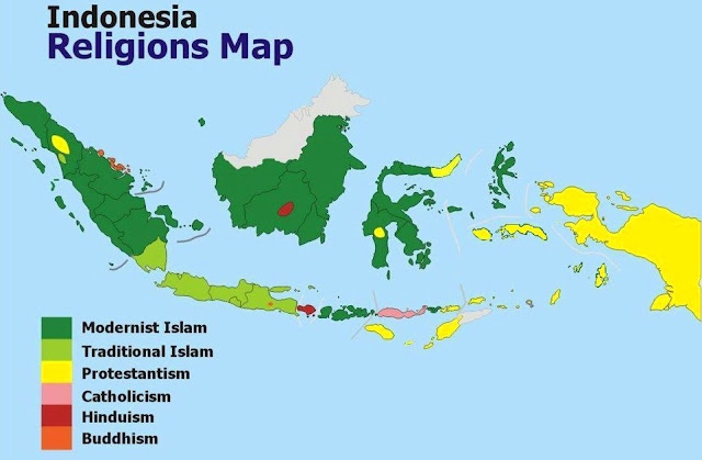 Peta Keagamaan Indonesia Islam Kristen Katolik Hindu Buddha dan agama lokal