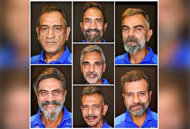 Indian Cricketers FaceApp Photos