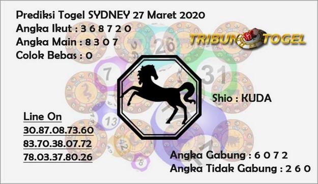 Prediksi Sydney Jumat 27 Maret 2020 - Prediksi Tribun Togel