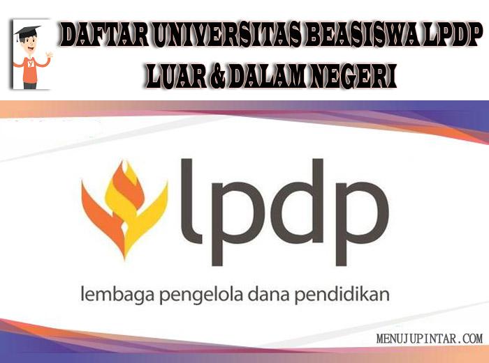 Daftar Universitas Beasiswa LPDP