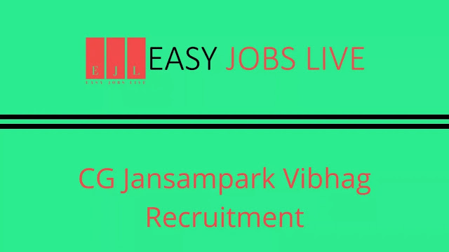 CG Jansampark Vibhag Recruitment