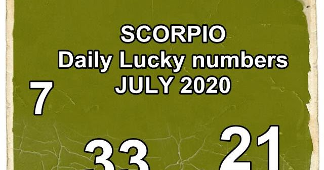 SCORPIO Daily Lucky numbers for JULY 2020. My Lucky ...