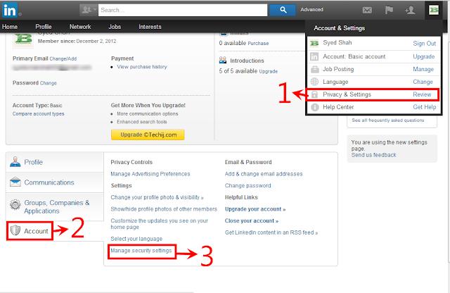 Linked 2 step verification steps