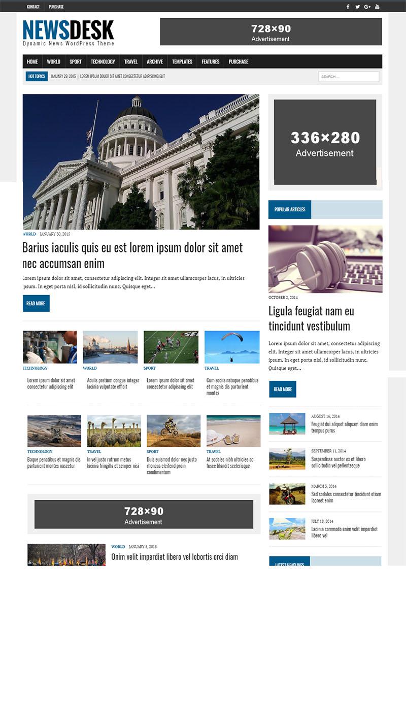 NewsDesk Wordpress Theme Free Download | Paid In Free