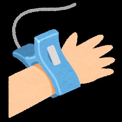 心電図の電極のイラスト(クリップ)