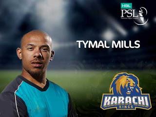 Tymal Mills karachi kings in psl 3