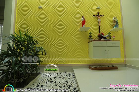 Prayer room interior, Pala, Kerala