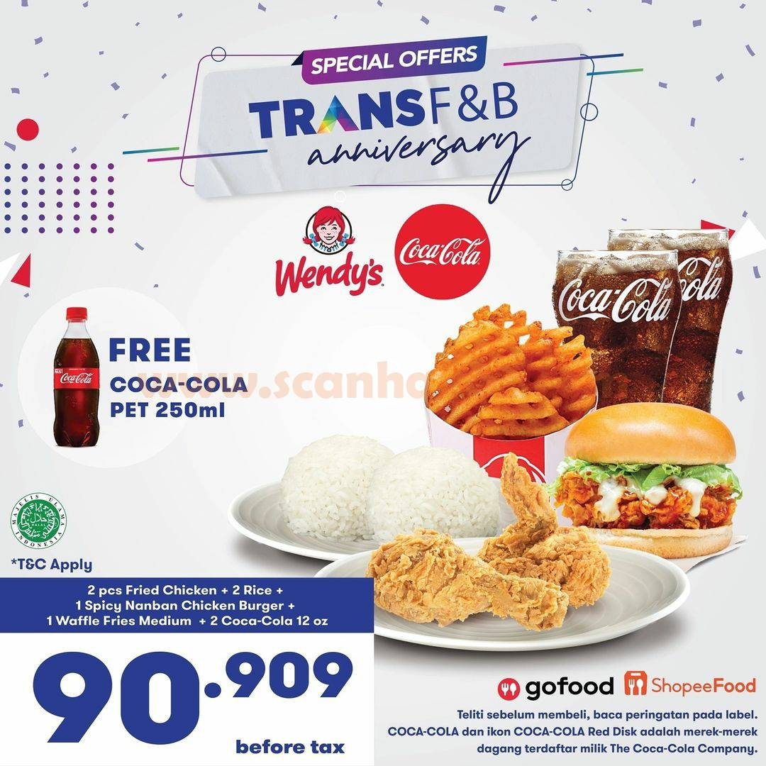 WENDY'S Promo Special Offers TRANS F&B Anniversary