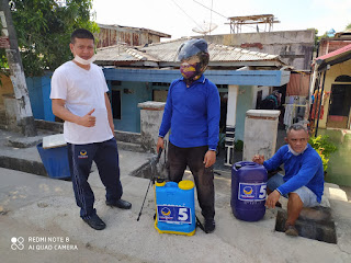 NASDEM Kepri Bantu Warga Bengkong Semprot Disinfektan