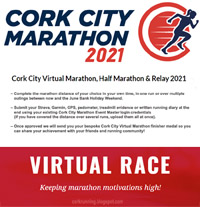 Cork City Virtual Marathon, Half-Marathon & Relay