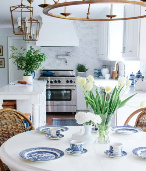 blue and white kitchen Kendra Bester Design Rox-Anne Henderson Celebrating This Life