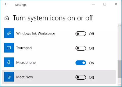 Cara Menghilangkan Icon Meet Now Windows 10-3