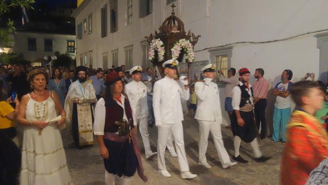Παρουσία του Αρχιεπισκόπου Ιερώνυμου ο εορτασμός της Παναγίας στην Ύδρα