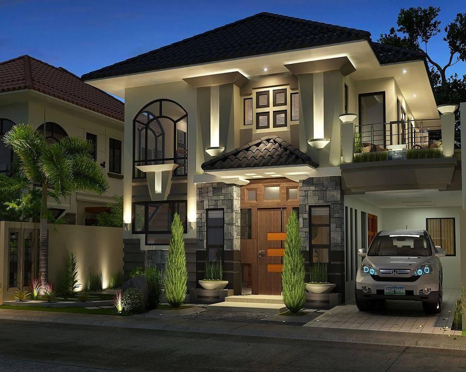 Diseño exterior de la casa con interiores en estilo Art Deco