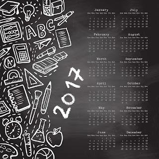 2017カレンダー無料テンプレート132