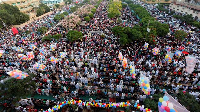 Muslims celebrate Eid al-Fitr which marks the end of the holy fasting month of Ramadan in several countries