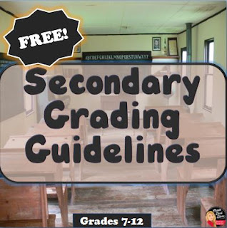 https://www.teacherspayteachers.com/Product/FREE-Grading-Guidelines-for-the-Secondary-Teacher-532900