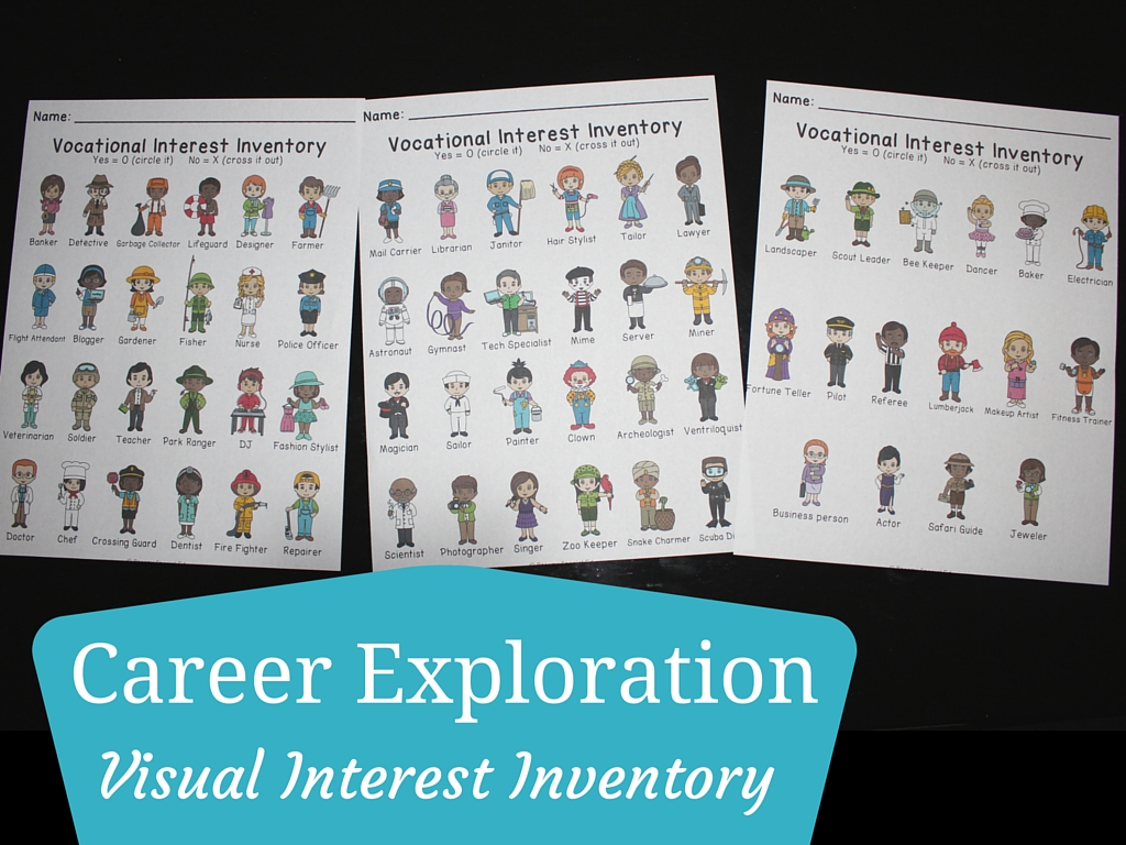 career exploration vocational daily questions job posters career exploration vocational daily questions job posters interest inventories and more
