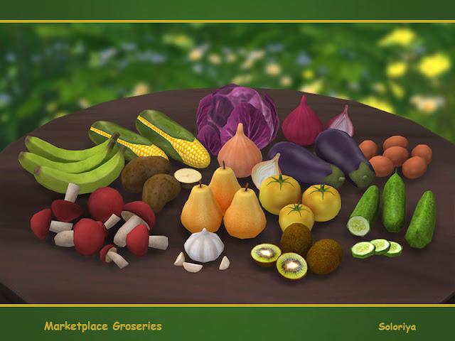 Рынок — наборы декора и инвентаря Sims 4 со ссылками для скачивания