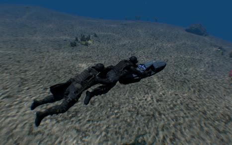 小型で 2 人まで乗れる潜水艇 SEABOB MAGNUM WATER SHADOW 730 アドオン