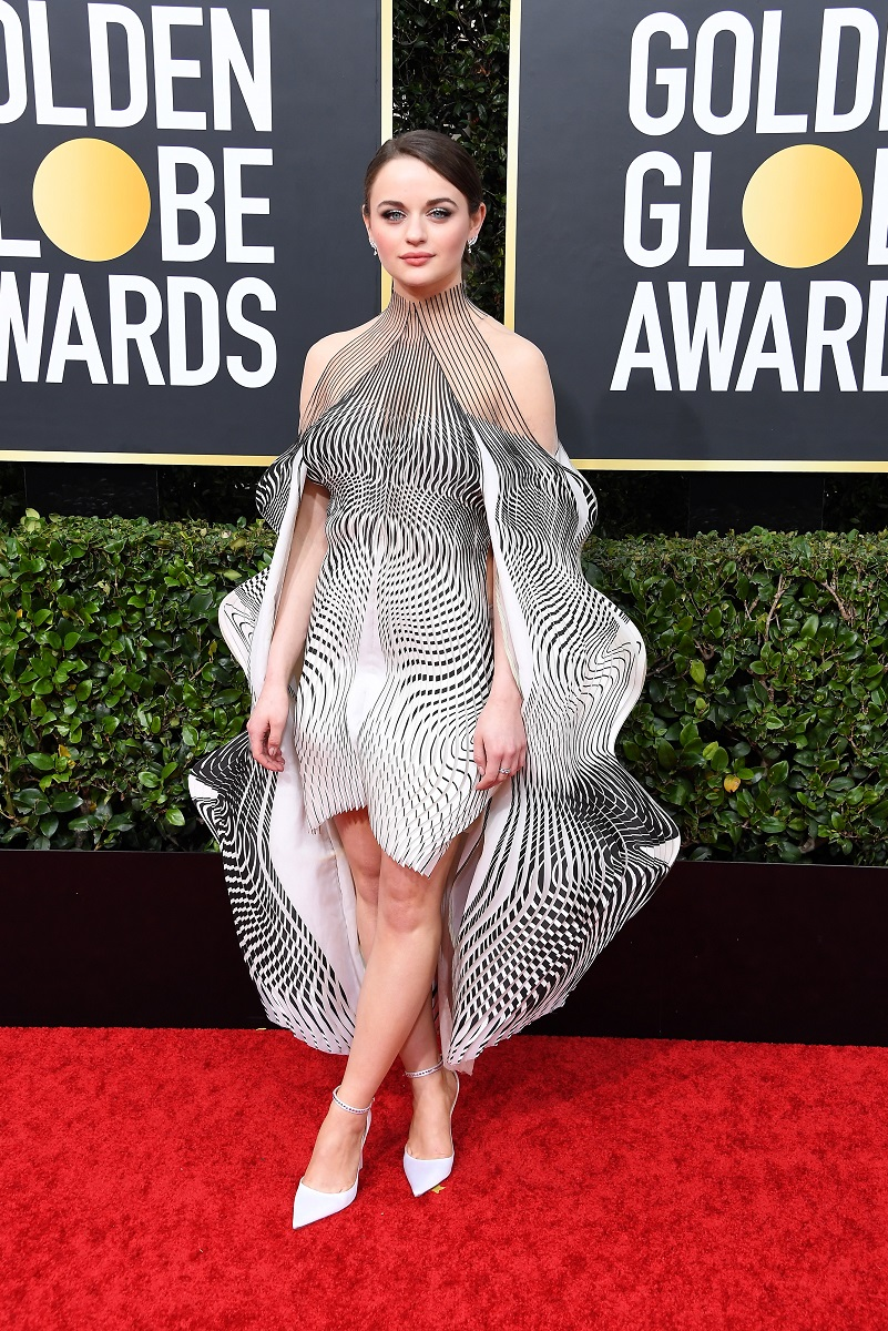 Joey King fascinates in Iris van Herpen at the 2020 Golden Globe Awards