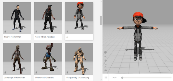 animazioni 3d, personaggi del tool online Mixamo di Adobe