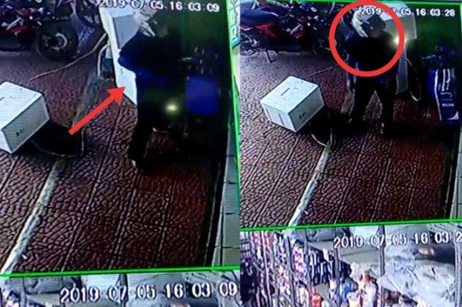 Terciduk CCTV! Wanita di Bone Ini Kepergok Mencuri di Toko Cat