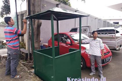 Pos Jaga Besi pesanan PT Shin Bangun Indoraya di Rawalumbu Bekasi Jakarta Barat