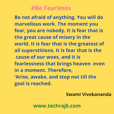 Be Fearless quotes by Swami Vivekananda