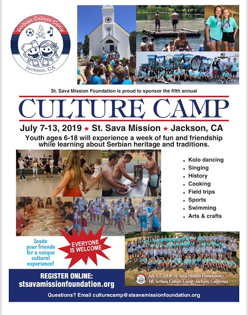 St. Sava Mission Foundation: 5th Annual Culture Camp - July 7-13