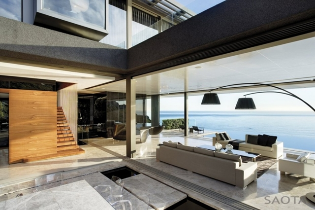 Photo of living room and the ocean