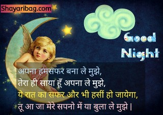 Good Night Shayari Best Friend