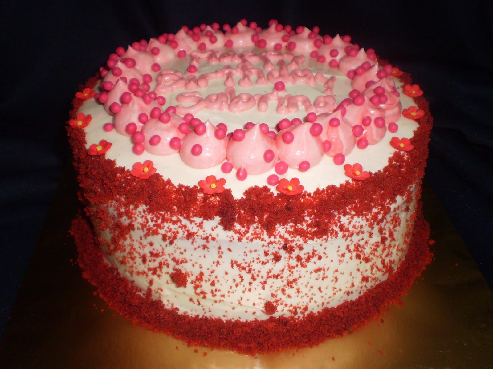Craving Cakes with Noni Birthday Cake Red Velvet Happy Birthday