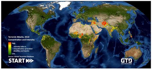 Maps Mania: 2018 Global Terrorist Attacks