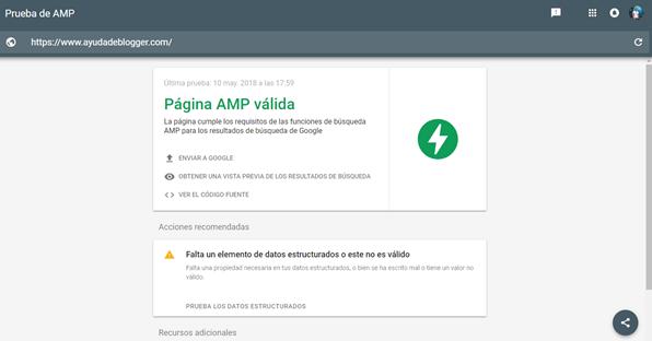 Falta un elemento de datos estructurados o este no es válido – AMP Validator
