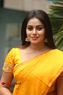 Actress Poorna Pictures in Saree at Avanthika Movie Opening  0001
