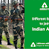 Different Entries to join Indian Armed Forces