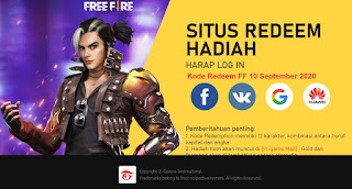 Kode Redeem FF 10 September 2020