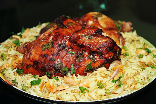 the original way to make rice with fried chiken easily